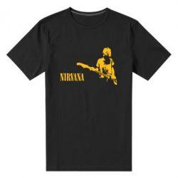 Мужская стрейчевая футболка Гитарист Nirvana - FatLine