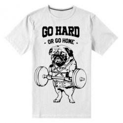 Мужская стрейчевая футболка Go hard or go home