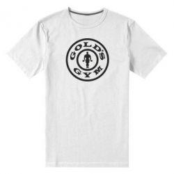 Мужская стрейчевая футболка Gold's Gym - FatLine