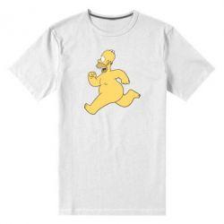 Мужская стрейчевая футболка Голый Гомер Симпсон - FatLine