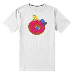 Мужская стрейчевая футболка Гомер и Пончик - FatLine