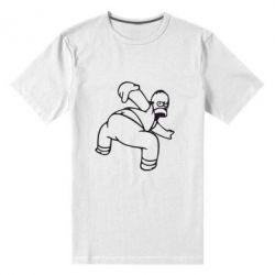 Мужская стрейчевая футболка Гомер Симпсон - FatLine