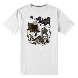Мужская стрейчевая футболка Город под подошвой - FatLine