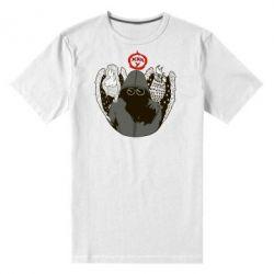 Мужская стрейчевая футболка Говорун на левом плече, гамаюн на правом - FatLine