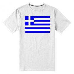 Мужская стрейчевая футболка Греция - FatLine