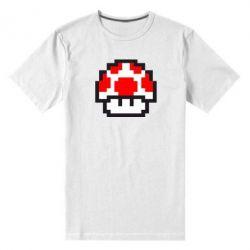 Мужская стрейчевая футболка Гриб Марио в пикселях - FatLine