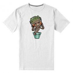 Мужская стрейчевая футболка Groot - FatLine