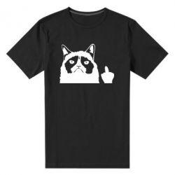 Чоловіча стрейчева футболка Grumpy cat F**k Off