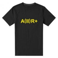 Мужская стрейчевая футболка Группа крови (2)А+