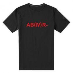 Чоловіча стрейчева футболка Група крові (4) АВ-