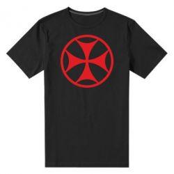 Мужская стрейчевая футболка Грузинский Крест - FatLine