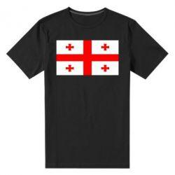 Мужская стрейчевая футболка Грузия - FatLine