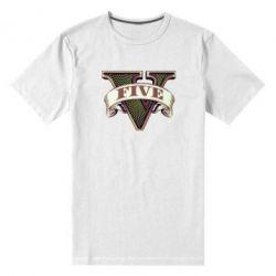 Мужская стрейчевая футболка GTA 5 3D Logo - FatLine