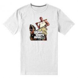 Мужская стрейчевая футболка GTA V Logo - FatLine