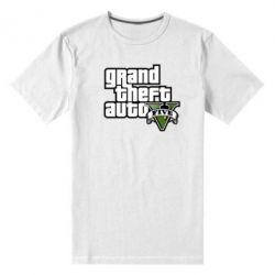 Мужская стрейчевая футболка GTA V Maine Logo - FatLine