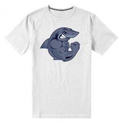 Мужская стрейчевая футболка Gym Shark - FatLine