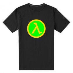 Мужская стрейчевая футболка Half Life Logo - FatLine
