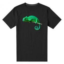 Мужская стрейчевая футболка Хамелеон