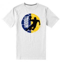 Мужская стрейчевая футболка Handball Logo - FatLine
