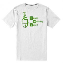 Мужская стрейчевая футболка Happy Birthdey Bitch Во все тяжкие - FatLine
