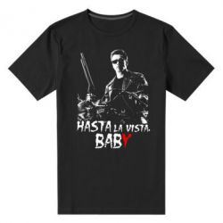 Мужская стрейчевая футболка Hasta La vista, Baby