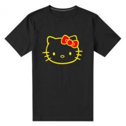 Мужская стрейчевая футболка Hello Kitty logo - FatLine