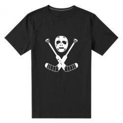 Мужская стрейчевая футболка Хоккейная маска - FatLine