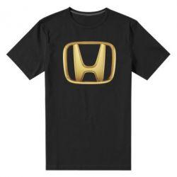 Мужская стрейчевая футболка Honda Gold Logo - FatLine