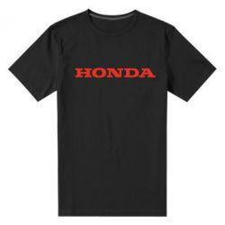 Мужская стрейчевая футболка Honda надпись - FatLine