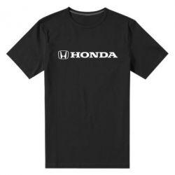 Мужская стрейчевая футболка Honda Small Logo - FatLine