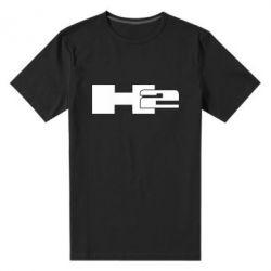 Мужская стрейчевая футболка Hummer H2 - FatLine