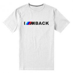 Чоловіча стрейчева футболка I am BACK