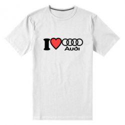 Мужская стрейчевая футболка I love audi - FatLine