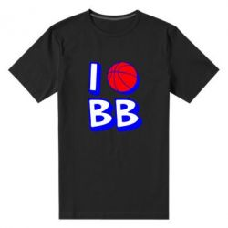 Мужская стрейчевая футболка I love basketball - FatLine