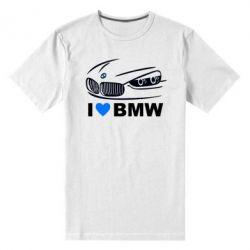 Мужская стрейчевая футболка I love BMW 2 - FatLine