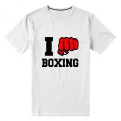 Мужская стрейчевая футболка I love boxing - FatLine