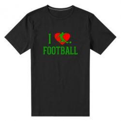 Мужская стрейчевая футболка I love football - FatLine