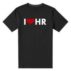 Мужская стрейчевая футболка I love HR