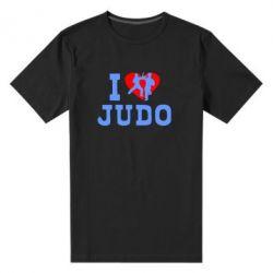 Мужская стрейчевая футболка I love Judo