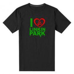 Мужская стрейчевая футболка I love LP - FatLine