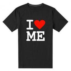 Мужская стрейчевая футболка I love ME - FatLine
