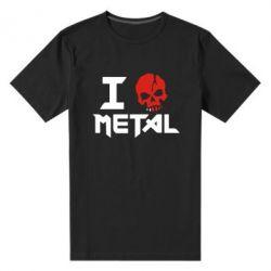 Мужская стрейчевая футболка I love metal - FatLine