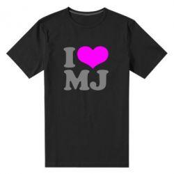 Мужская стрейчевая футболка I love MJ - FatLine