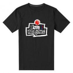 Мужская стрейчевая футболка I love this Game - FatLine