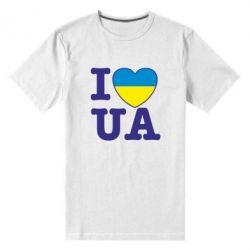 Мужская стрейчевая футболка I love UA - FatLine