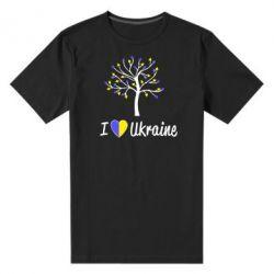 Мужская стрейчевая футболка I love Ukraine дерево - FatLine