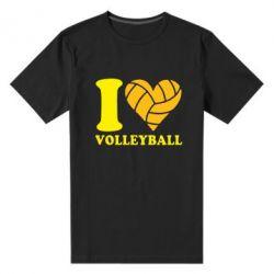 Мужская стрейчевая футболка I love volleyball - FatLine
