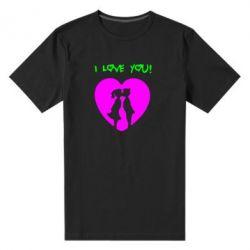 Мужская стрейчевая футболка I love you - FatLine
