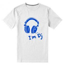 Мужская стрейчевая футболка I'm DJ - FatLine