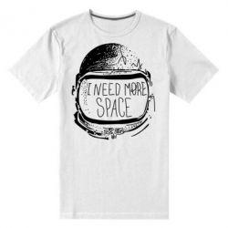 Мужская стрейчевая футболка I need more space - FatLine